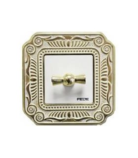 Поворотный выключатель FEDE серии FIRENZE gold white patina