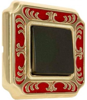 Выключатель FEDE серии SMALTO ITALIANO Siena red