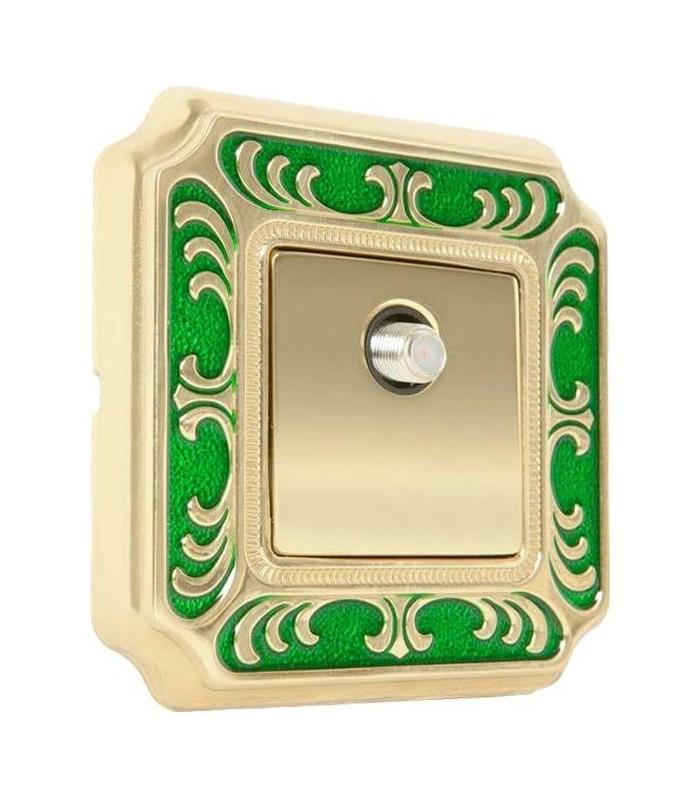 ТВ розетка FEDE серии SMALTO ITALIANO Siena green