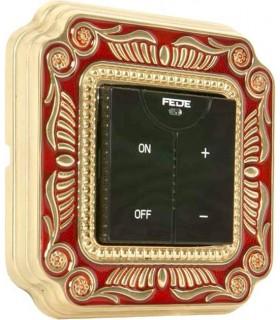 Диммер с сенсорным управлением FEDE серии SMALTO ITALIANO Firenze red