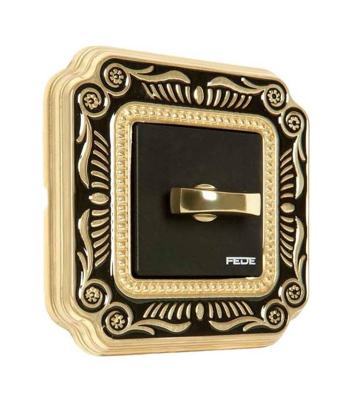 Поворотный выключатель FEDE серии SMALTO ITALIANO Firenze black