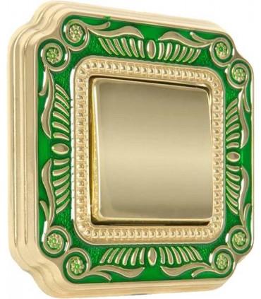 Выключатель FEDE серии SMALTO ITALIANO Firenze green