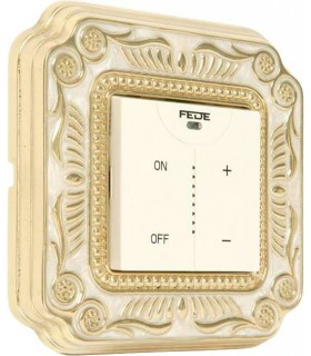 Диммер с сенсорным управлением FEDE серии SMALTO ITALIANO Firenze gold white patina