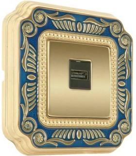 Розетка FEDE серии SMALTO ITALIANO Firenze blue