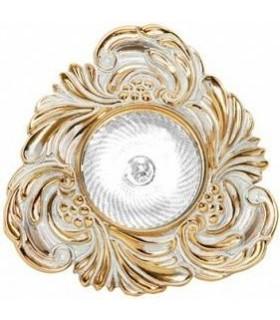 Треугольный точечный светильник из латуни, FEDE CHIANTI золото с белой патиной