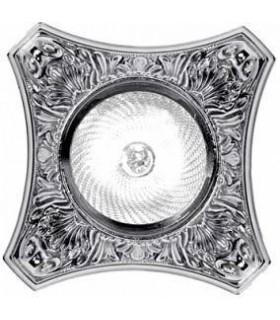 Светильник встраиваемый из латуни FEDE Pisa блестящий хром