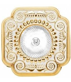 Квадратный точечный светильник из латуни, FEDE Firenze золото с белой патиной