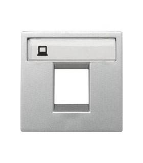 Накладка одинарной телефонной/компьютерной розетки ABB Niessen Zenit, серебро