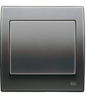 Выключатель BJC серия Iris Серый 18001-AN
